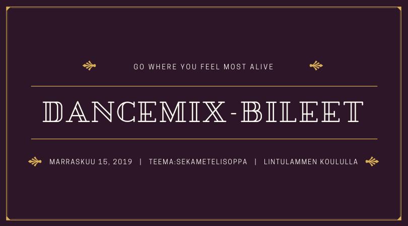 DanceMix- bileet 15.11.2019!