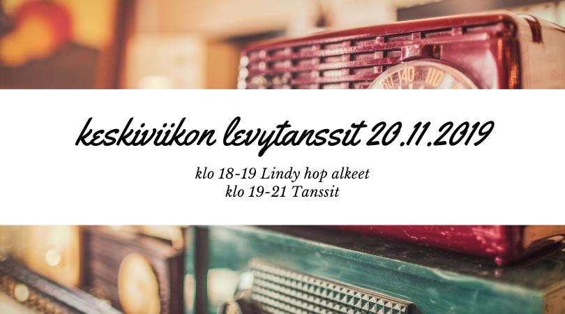 Keskiviikon levytanssit 20.11.2019